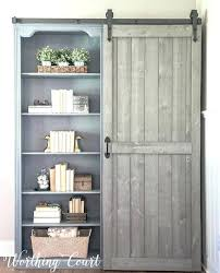 cherry bookshelves bookcase with sliding doors makeover traditional cherry to farmhouse fab door bookshelves glass solid