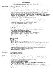 Lead Mechanic Resume Samples Velvet Jobs