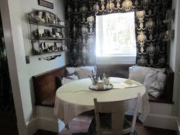 classy kitchen table booth. booth seating for kitchen with custom white benches and large classy table