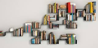 funky floating bookshelves - Adrien Andrieux