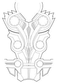 Thors chest armor diagram for rule rsquo s thor cosplay feel free to use it for your cosplay just link back here so other people can use it too