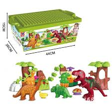 <b>40Pcs</b>/Lot <b>Dino Valley Building</b> Blocks <b>Sets</b> Large particles Animal ...
