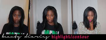 highlight contour dark skin