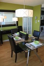 Small Picture Kaths dining room Love the grey accent wall green apple light