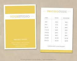 Price List Brochure Template Tri Fold Brochure Template W Price List ...