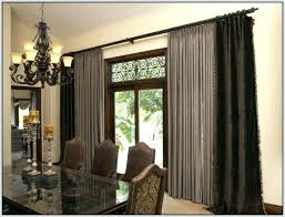 Double rod curtain ideas Drapes Brown Double Curtain Rod Architecture Extra Wide Double Curtain Rods Curtains Home Design Ideas For Long Rabbssteak House Brown Double Curtain Rod How To Hang Double Curtains Fantastic