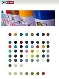 Bosny Spray Paint Color Chart Bosny Color Chart Regular Colors