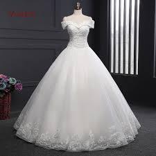 vivian s bridal a line wedding dress off shoulder beaded sequin
