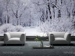 Fotobehang Posters Sneeuw Bomen Artpainting4youeu Mcp1160nl