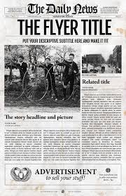 Newspaper Template Indesign Front Page Newspaper Template By Newspaper Templates On
