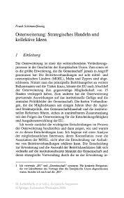 Osterweiterung Strategisches Handeln Und Kollektive Ideen Springer
