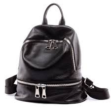 <b>Zency</b> Fashion 100% <b>Genuine Leather Women's</b> Backpacks ...