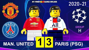 Manchester United vs PSG 1-3 • Champions League 20/21 Paris Saint-Germain  All Goals Highlights Lego in 2021 | Psg, Champions league, Lego football