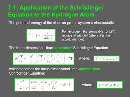 hydrogen atom 7 2 solution of the schrödinger equation 2 the
