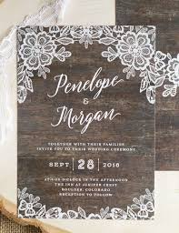 best 25 rustic wedding invitations ideas only on pinterest Formal Rustic Wedding Invitations rustic lace wedding invitations Country Wedding Invitations