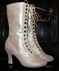 victorian boots style lace up glitter white boots by kioskofoli Victorian Wedding Boots For Sale trendy boots for party,outdoor, wedding glitter white boots, unicat victorian boots style lace up i have a pair that look very similiar to these Victorian Ladies Boots