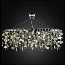 full size of living appealing oval shaped crystal chandelier 0 midnight pearl glow mother of shell
