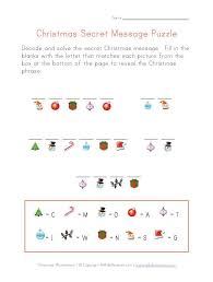 Christmas Secret Message To Print Monthly School Ideas