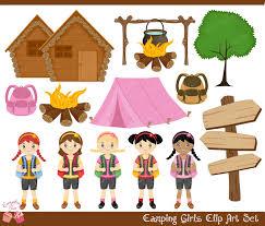 Girl scout camp clip art
