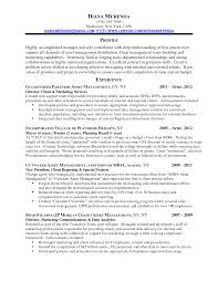 Impressive Profile Experience And Client And Marketing Services For Resume  For Finance Manager