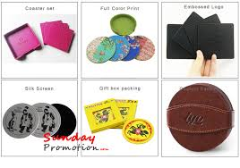 personalized black leather coasters faux leather coasters 10cm