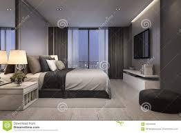 bedroom modern luxury. 3d Rendering Modern Luxury Bedroom Suite At Night With Cozy Design