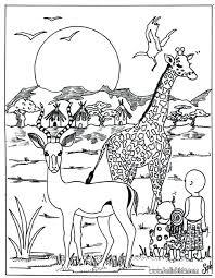 Safari Animals Coloring Pages Safari Coloring Page Safari Animal