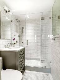 white subway tile bathroom example of a small transitional master white tile and subway tile mosaic tile floor alcove shower white subway tile bathroom