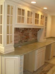 Brick Kitchen Floors Downeast Kitchen Design Brick Pavers For Back Splash With Wood