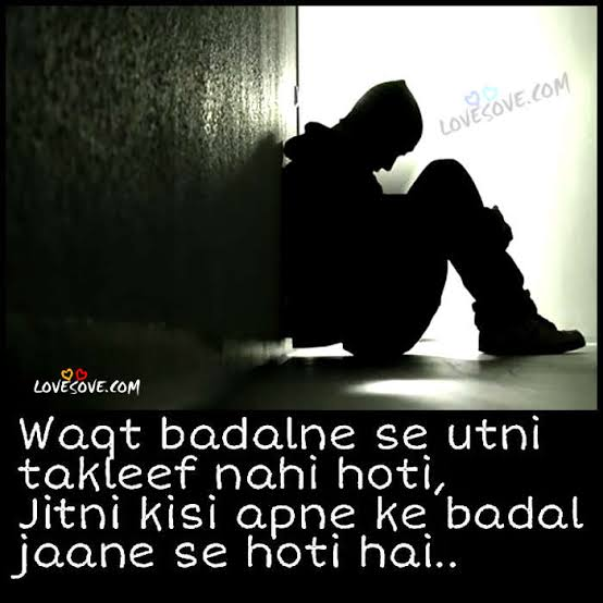bure waqt ki shayari in english