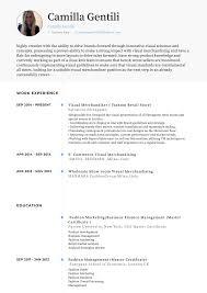 Merchandising Resume Visual Merchandiser Resume Samples Templates Visualcv