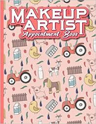 makeup artist appointment book 7 columns appointment organizer client appointment book scheduling appointment calendar cute farm s cover