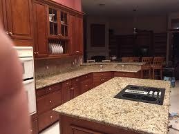 Kitchen Island Granite Countertop Santa Cecilia Granite Countertops Installation Kitchen