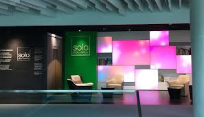 showroom office. Solo Office Interiors Showroom Ekaterinburg, Russia, Luminous Textile