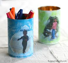personalized tin can pencil holder craft for kids- perfect homemade gift  for mother's day or