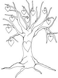 Small Picture Fall Tree Leaves Coloring Page Tree Pinterest Fall trees