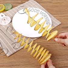 <b>1 Set Kitchen Accessories</b> Potato Spiral Cutter Slicer Potato Chips ...