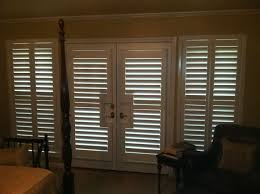 3 1 2 real wood painted plantation shutters including french door cutouts