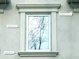 Exterior Window Design Fascinating Exterior Crown Molding Fancy Traditional With Window Trim Image By