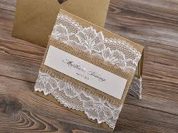 Burlap And Lace Wedding Invitations Hessian Burlap Lace Wedding Wedding Flair
