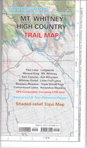 mt whitney high countrytrail map (tom harrison maps) tom