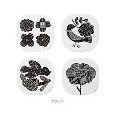 コースター 8枚セット Zuanzokei Zuanzokei 鹿児島睦紙 ペーパー 花 フラワー 植物 鳥 バード イラスト