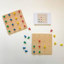 Wooden Peg Games jb10000montessoriwoodenpegboardgame100 Jolly B Kids 75