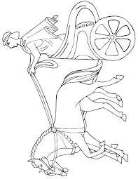 Small Picture Horse And Chariot Coloring Page Ancient Greek Rider
