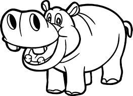 Small Picture Hippo Coloring Pages And Coloring Page itgodme