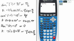 inverse trig on ti 84 graphing calculator