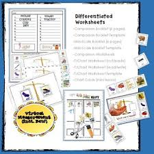 Measurement Sort By Weight Mini Booklets T Charts Worksheets K Md 1 2