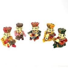 Small Picture Decorative Send wooden showpiece set of rajasthani folk