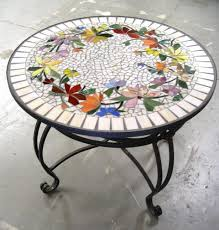 decorating mosaic patio table and chairs diy outdoor