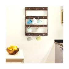 wall mounted coffee cup holders wall mounted hook torched wood coffee mug cup holder display rack
